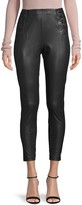 BCBGMAXAZRIA Lace-Up Faux Leather Cropped Pants