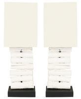 Safavieh Pair of Woodland Mini Table Lamps