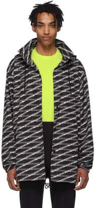 Balenciaga Black and Grey Monogram Raincoat