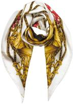 Versace Heritage Ganimede Twill Silk Square Scarf