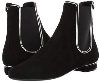 Salvatore Ferragamo Aicha (Nero/Nappa Silk Argento) Women's Shoes
