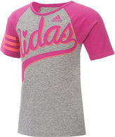 adidas Raglan-Sleeve Graphic-Print T-Shirt, Toddler & Little Girls (2T-6X), & Big Girls (7-16)