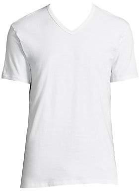Calvin Klein Underwear Men's 2-Pack Classic-Fit Cotton Stretch V-Neck Tees