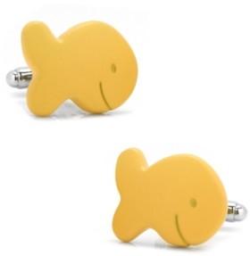 Cufflinks Inc. Gold Fish Cufflinks