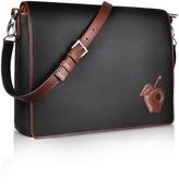 Pineider Black Messenger Changing Bag