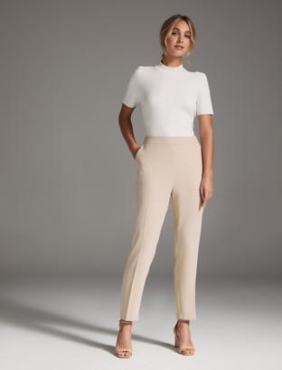 Forever New Carrie Cigarette Pants - Nude - 10