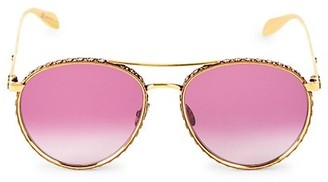Alexander McQueen 58MM Embellished Aviator Sunglasses