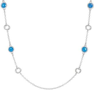 "Judith Ripka Verona 36"" Sterling Silver Gemstone Necklace"