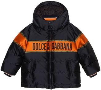 Dolce & Gabbana Kids Logo-Detail Hooded Down Jacket (2-6 Years)