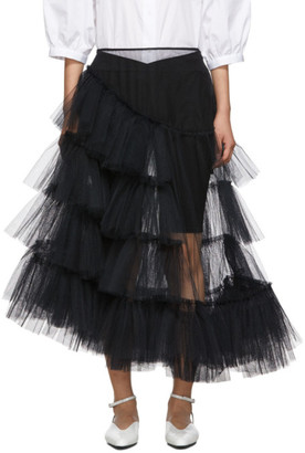 Simone Rocha Black Net Tutu Skirt
