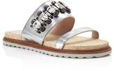 Furla Grace Embellished Slide Sandals