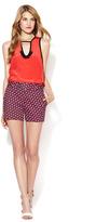 Nanette Lepore Trippy Printed Button Tab Shorts