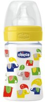 Chicco Baby Well Being Silicon Feeding Plastic Bottle 0m+