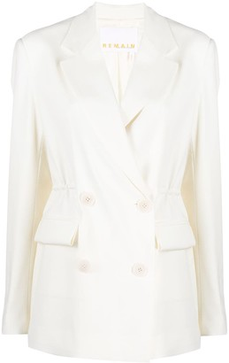 REMAIN Double-Breasted Tailored Blazer