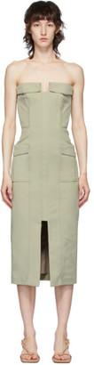 Dion Lee Khaki Pocket Bustier Dress