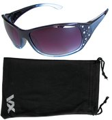 Vox Footwear Women's Sunglasses Designer Sport Fashion Rhinestones Eyewear Free Microfiber Pouch - Frame - Smoke Lens