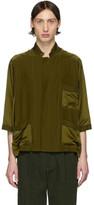 Haider Ackermann Green Short Sleeve Pyjama Shirt