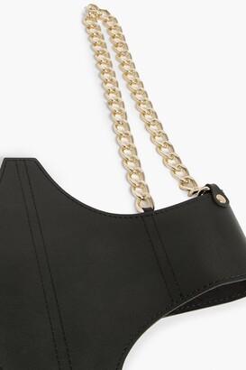 boohoo Black Pu Gold Chain Detail Corset Belt