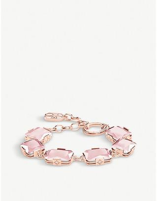 Thomas Sabo Magic Stones rose-gold-plated sterling silver and rose quartz bracelet