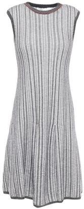 Victoria Beckham Jacquard-knit Wool And Cotton-blend Dress