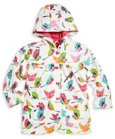 Hatley Toddler's, Little Girl's & Girl's Tropical Birds Printed Raincoat