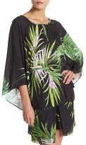 Natori Orchid Print Kimono Sleeve Blouse