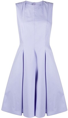Paule Ka Flared Style Pleated Detail Dress