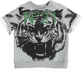 N°21 Tiger Cotton Short Sleeve Sweatshirt