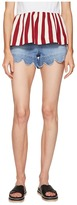 RED Valentino Stone Washed Scallops Embroidery Shorts Women's Shorts