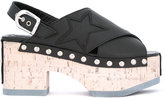 McQ by Alexander McQueen metallic-studded wedge sandals - women - Cork/Leather/rubber - 37