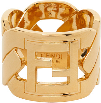 Fendi Gold Forever Chain Ring