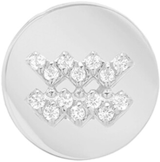 Mini Mini Jewels Framed Diamond Zodiac Sign Earring