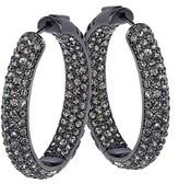 Gottex Plated Crystal Hoop Earrings.