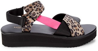 Kate Spade Dotty Leopard-Print Sandals