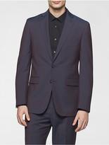 Calvin Klein X Fit Ultra Slim Fit Aubergine Suit Jacket