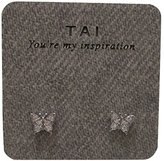 Tai Mini Butterfly Stud Pierced Earring (silver-plated-base)