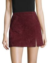 Blank NYC BLANKNYC Welt Pocket Leather Mini Skirt