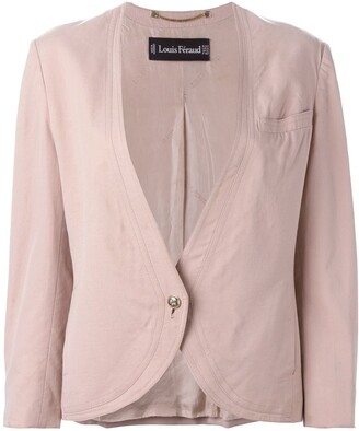 Louis Feraud Pre-Owned collarless jacket
