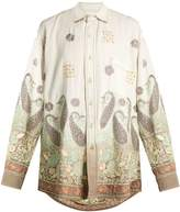 Ashish Oversized paisley-embroidered cotton shirt