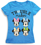 Freeze Turquoise Minnie Mouse 'Trouble Maker' Tee - Girls