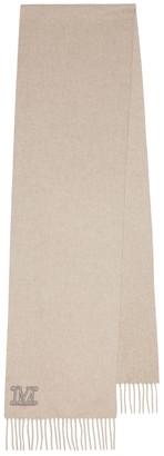 Max Mara Dalia logo cashmere scarf