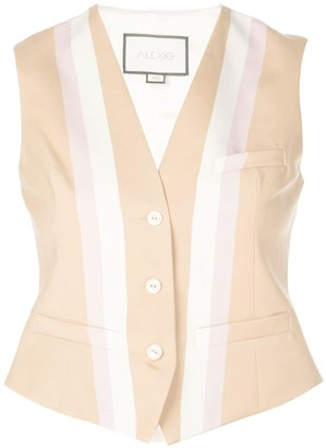 Alexis fitted striped vest