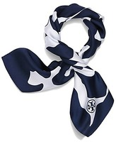 Tory Burch Clouded Leopard Silk Neckerchief