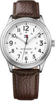 Tommy Hilfiger Men's Brown Leather Strap Watch 42mm 1791259, Created for Macy's