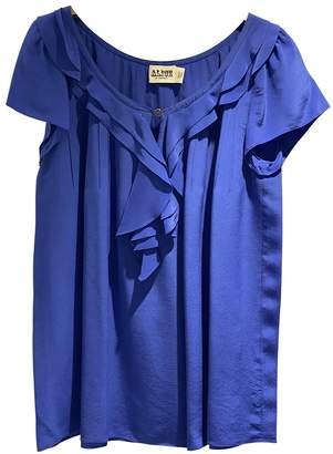 ALICE by Temperley Blue Silk Top for Women