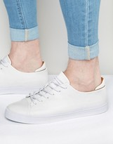 Asos Sneakers in White With Toe Cap