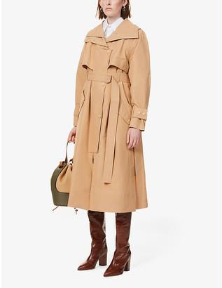 Sportmax Nunzio high-neck cotton-blend trench coat