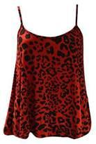 GirlsWalk Girls Walk Women's New Strappy Animal Leopard Print Camisole Vest Top