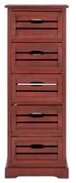 Safavieh Sarina 5 Drawer Cabinet Red