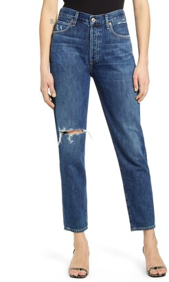 Citizens of Humanity Liya High Waist Ripped Slim Jeans